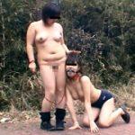 【マゾ女子大生が半裸ブルマ姿で四つん這い】投稿 現役音大生 奈緒19歳 後編